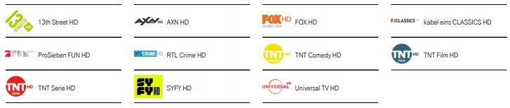 Magenta TV Film Paket Sender Übersicht